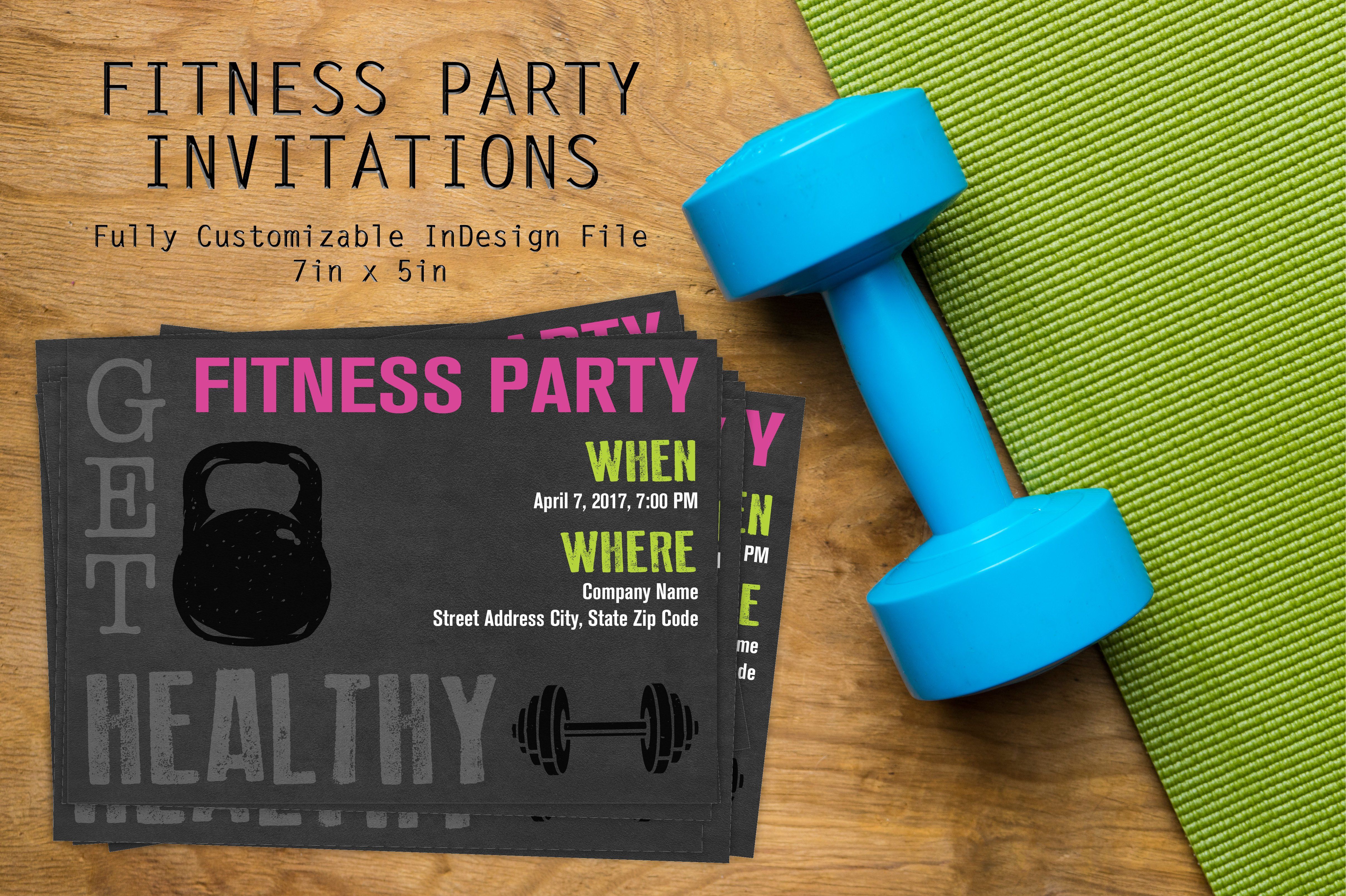 Workout Fitness Party Invitation Invitation Templates