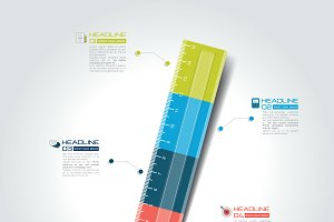Ruler infographic template