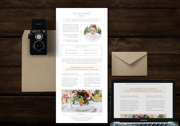 Email Newsletter Photoshop Template