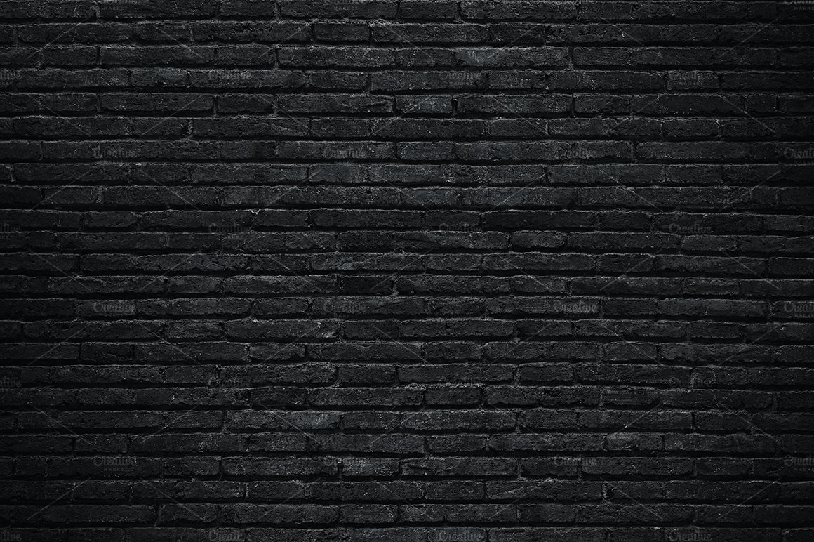 Brilliant 50 black brick wall decorating inspiration of for Black 3d brick wallpaper