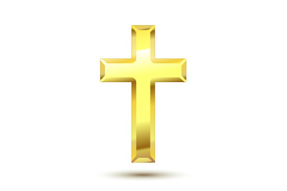 gold cross graphic objects creative market