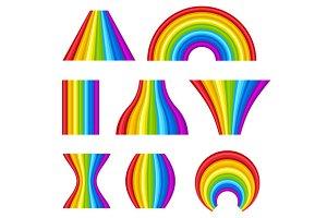 Different Shape of Rainbows Set