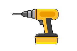 Electric Hand Drill Icon