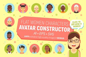 Women Characters Avatar Constructor