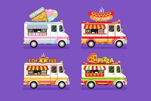 Food Trucks vol.1 Vector
