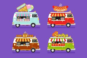 Food Trucks vol.2 Vector
