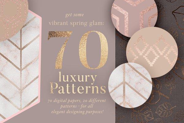 70 Spring Rosegold Patterns