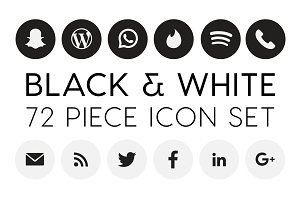 B&W Social Icon Set
