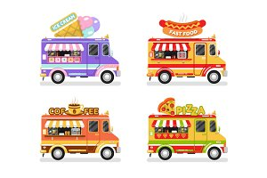 Food Trucks vol.3 Vector