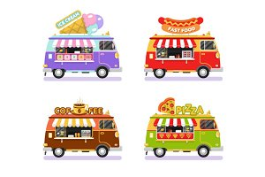 Food Trucks vol.4 Vector