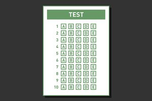 Blank Test Answer Sheet