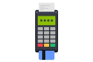 Payment POS Terminal with Card
