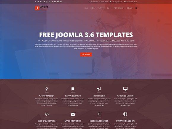 Jangite Free Joomla 3.6 Template