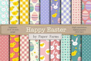 Easter digital paper
