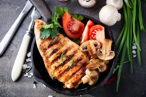 grilled healthy chicken breasts