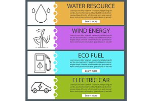 Eco energy banners. Vector