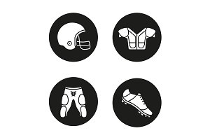 Football player's uniform. Vector