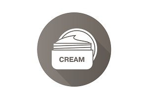 Face cream jar icon. Vector