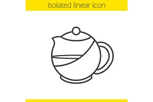 Brewing teapot icon. Vector