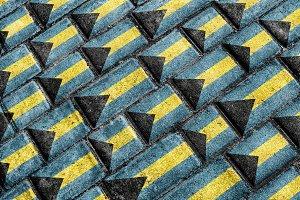 Bahamas Flag Urban Grunge Pattern