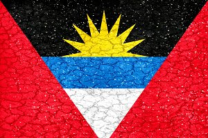 Antigua y Barbuda Grunge Flag