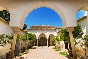 Courtyard in Alcazaba Palace, Malaga