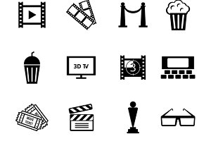 Black and White Movie Icons