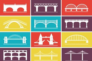 Modern Bridge Icons