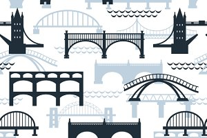 Seamless pattern of bridges