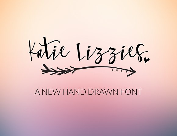 Katie Lizzies Hand Lettering Font