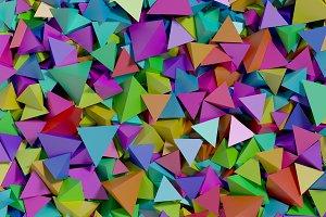 multicolored pyramids background