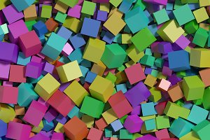 multicolored cubes background