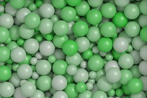green balls background