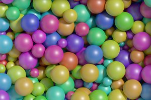 multicolored balls background