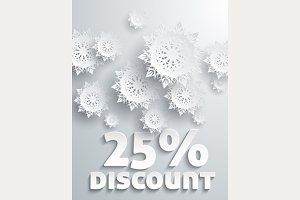 Set Discount Percent Snowflakes