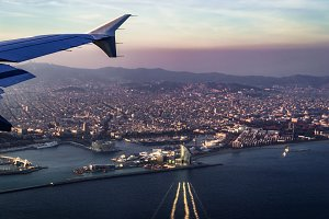 Landing in Barcelona