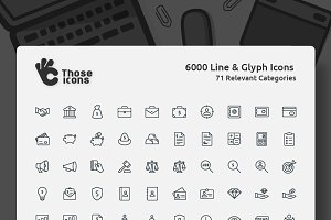Those Icons Line & Glyph Bundle