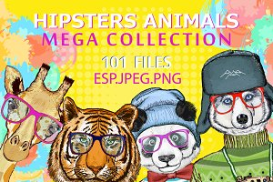 Hipsters animals