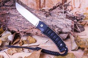 Tourist knife. A knife with a fixed blade.