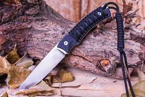 Outdoor knife. Knife for the tourist. Universal knife.