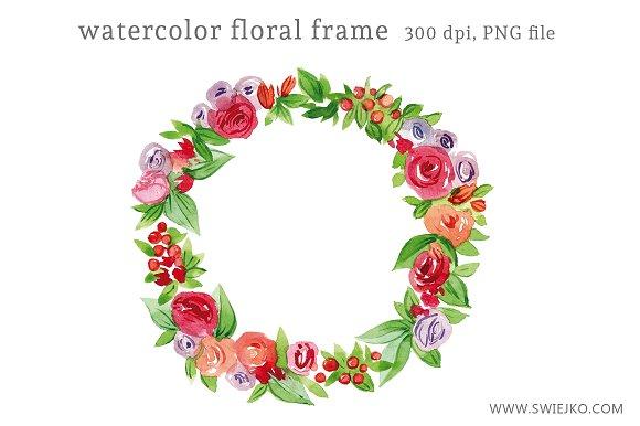 Floral Frame Clipart ~ Illustrations ~ Creative Market