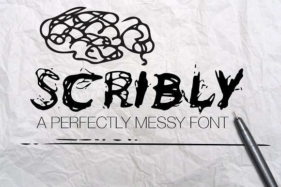 Scribly A Perfectly Messy Font