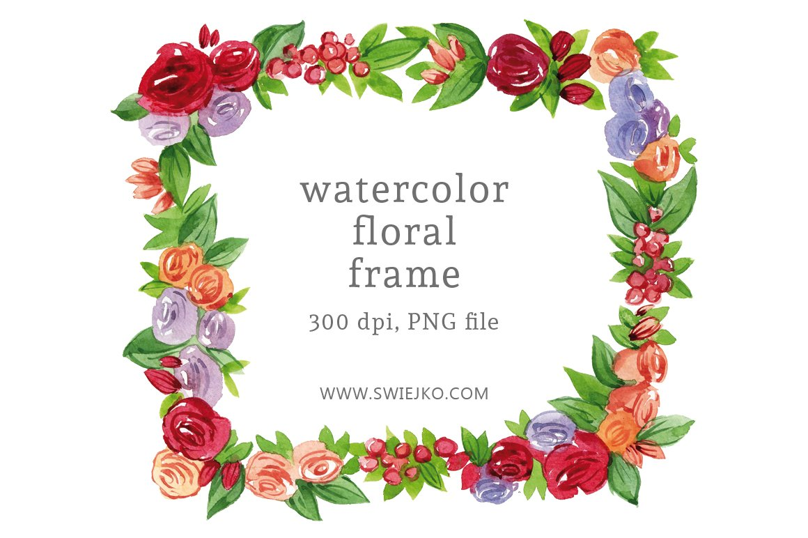 Watercolor floral frame illustrations creative market watercolor floral frame izmirmasajfo
