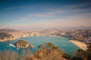 La Concha Bay, Spain.