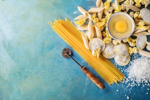 Homemade Italian penne pasta