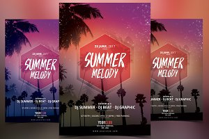 Summer Melody - PSD Flyer