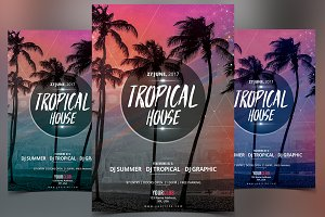 Tropical House - PSD Flyer