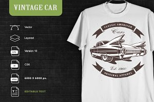 Vintage Car (for clothing)