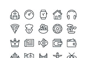 iOS Edge - 1200 Line Icons