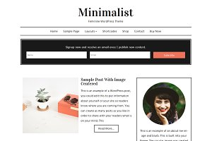 Minimalist Feminine WordPress Theme
